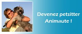 image d'une retraité petsitter Animaute et d'un chien