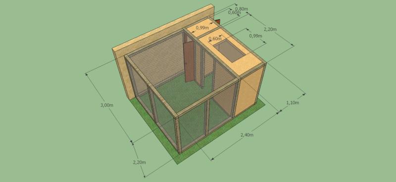 comment construire voliere extérieure